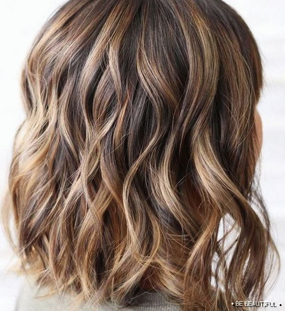Highlights on brown hair